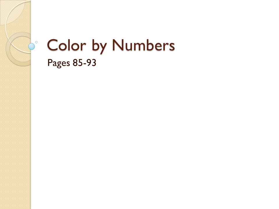 Color by Numbers Pages 85-93