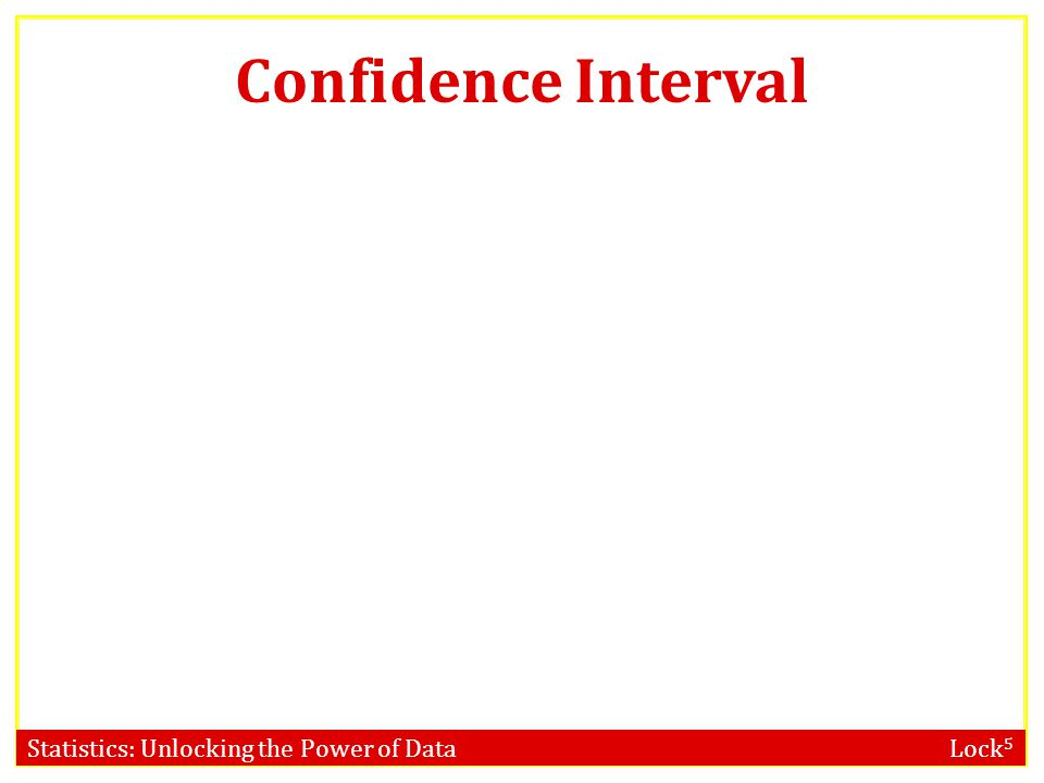Statistics: Unlocking the Power of Data Lock 5 Confidence Interval