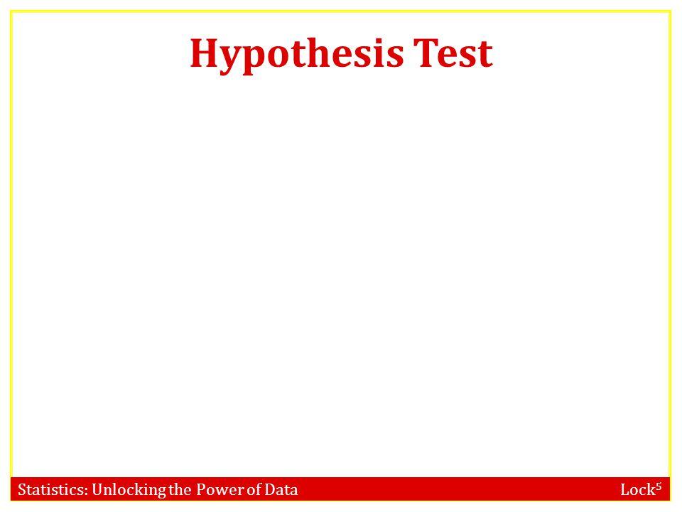 Statistics: Unlocking the Power of Data Lock 5 Hypothesis Test