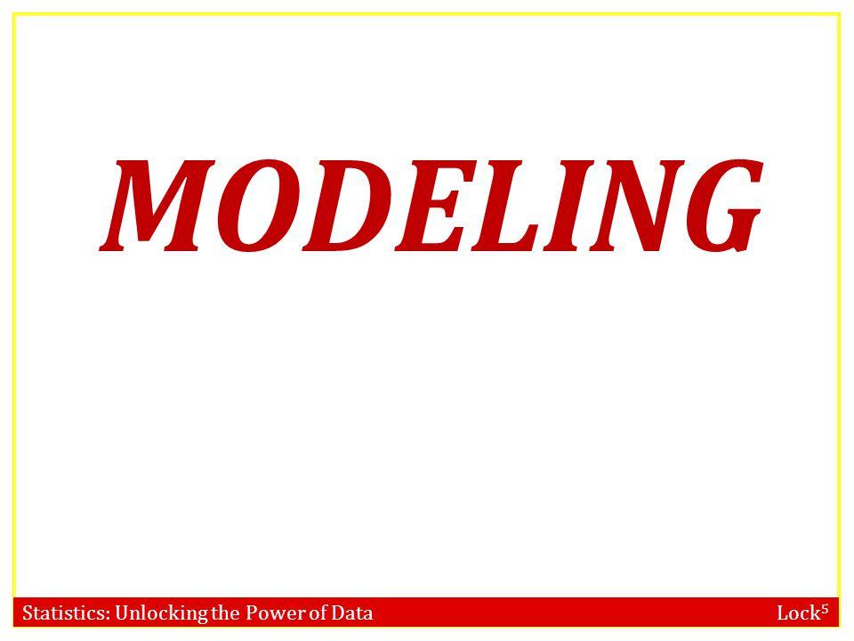 Statistics: Unlocking the Power of Data Lock 5 MODELING