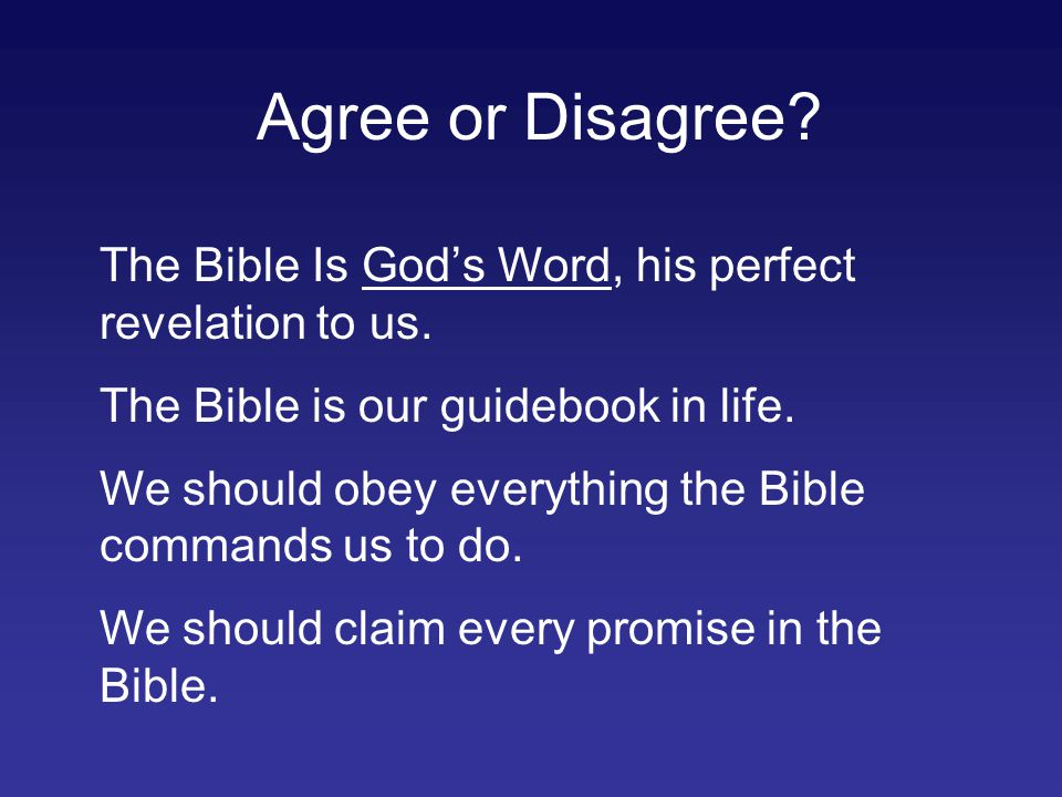 The Problem: The Bible was not written to us!