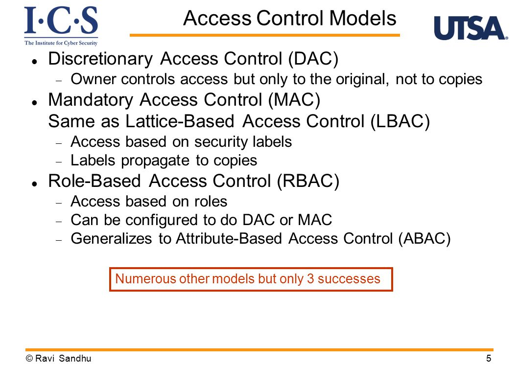 UCON: Usage Control Model © Ravi Sandhu26 unified model integrating authorization obligation conditions and incorporating continuity of decisions mutability of attributes UCON is ABAC on steroids