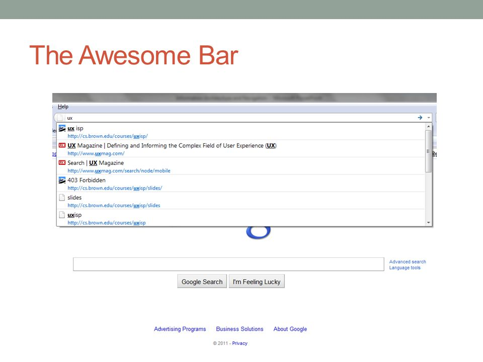 The Awesome Bar