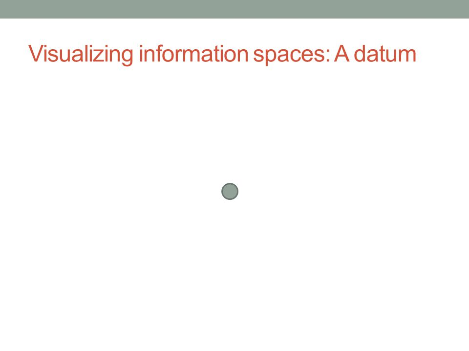 Visualizing information spaces: A datum