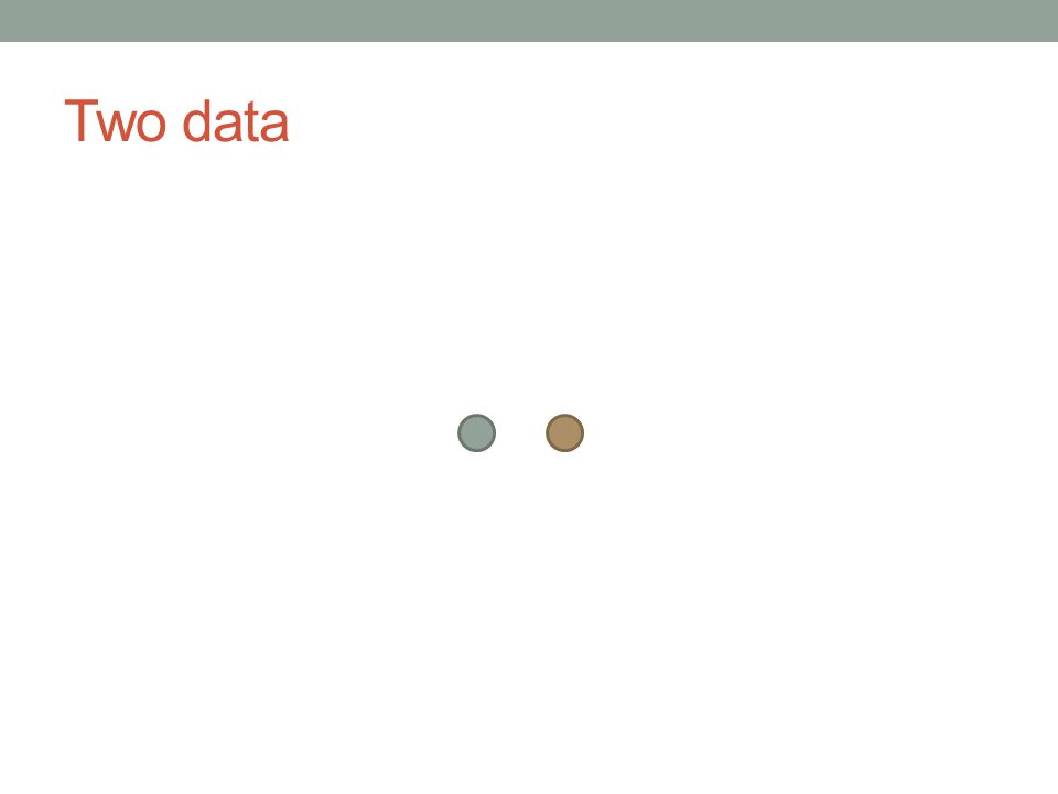 Two data