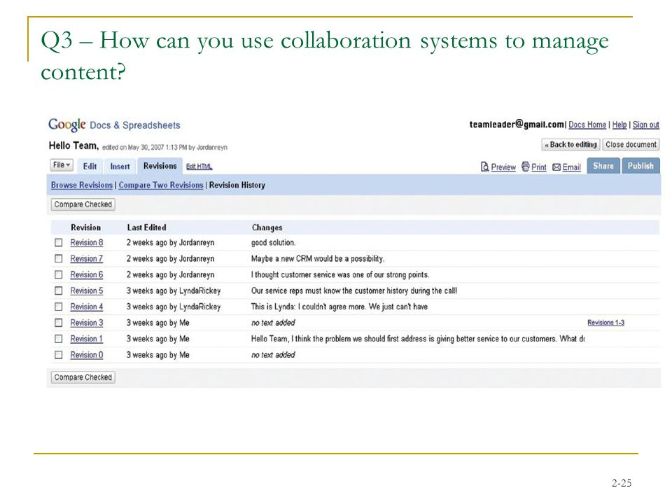 2-25 Q3 – How can you use collaboration systems to manage content?