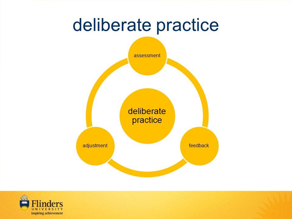 deliberate practice assessmentfeedbackadjustment