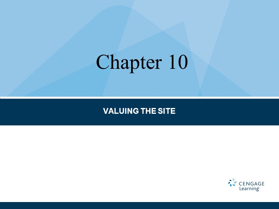 VALUING THE SITE Chapter 10