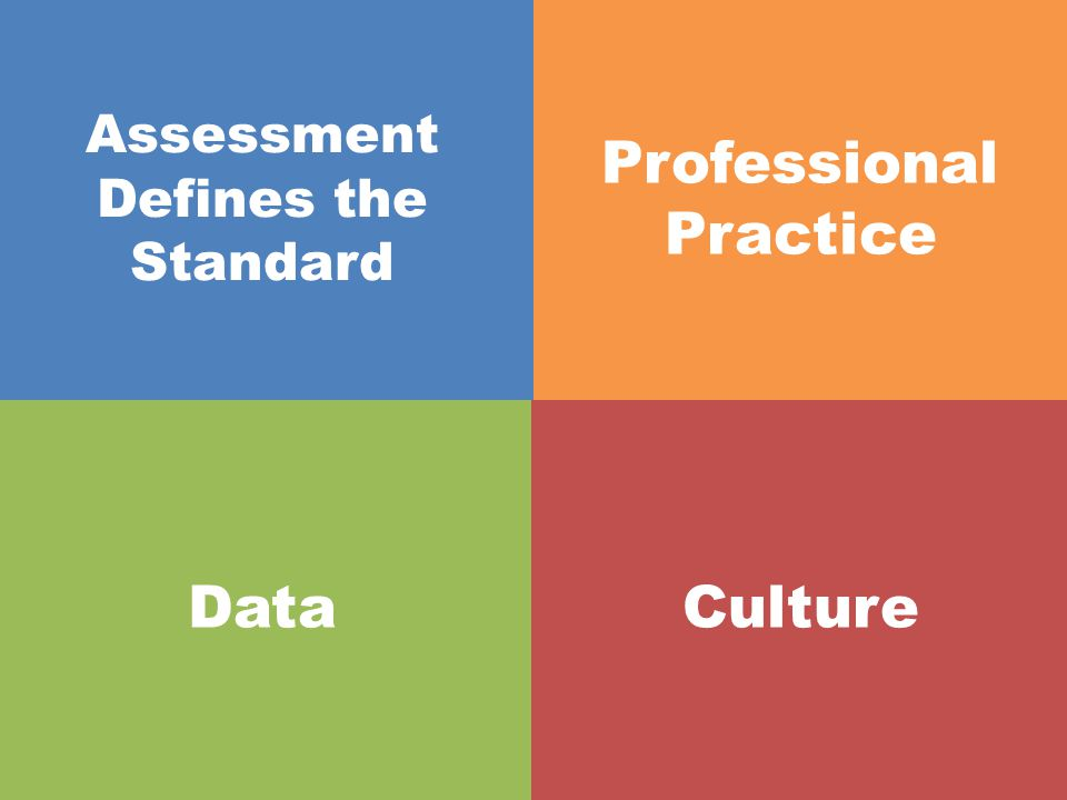 Assessment Defines the Standard Professional Practice DataCulture