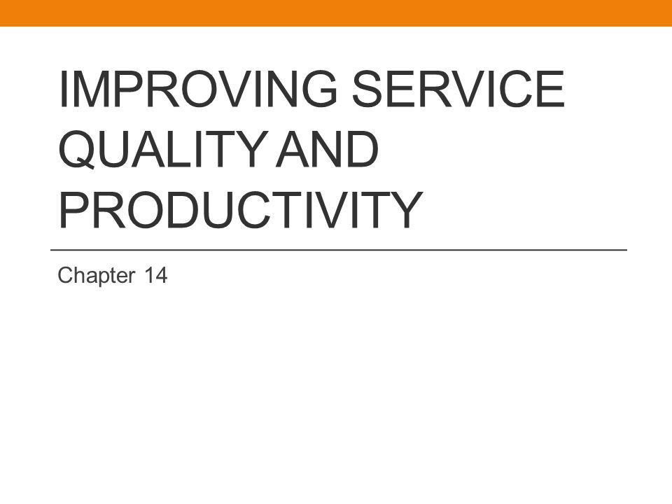 Improving Service Quality The GAP Model is: A Conceptual Tool to Identify and Correct Service Quality Problems