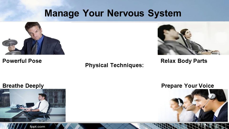 Manage Your Nervous System Physical Techniques: Powerful PoseRelax Body Parts Breathe Deeply Prepare Your Voice