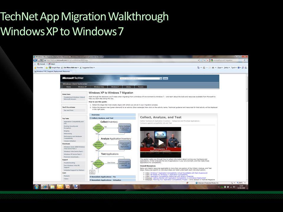 TechNet App Migration Walkthrough Windows XP to Windows 7