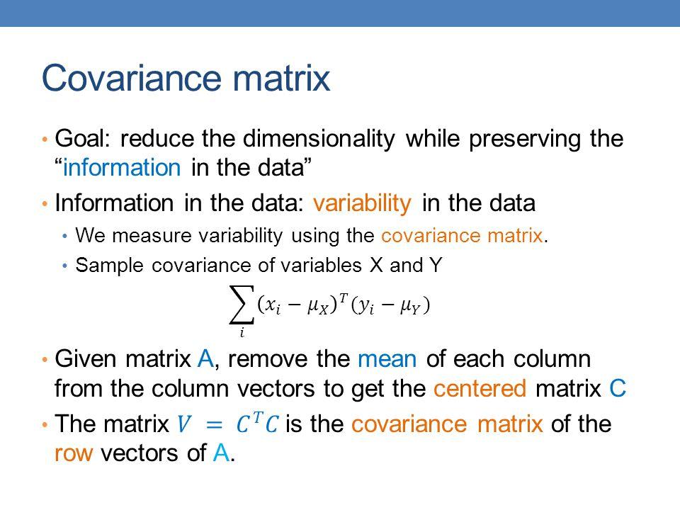 Covariance matrix
