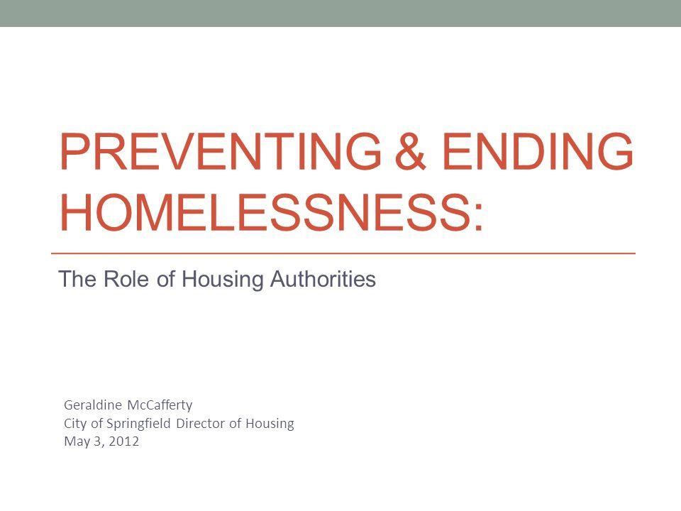 Why ending homelessness .