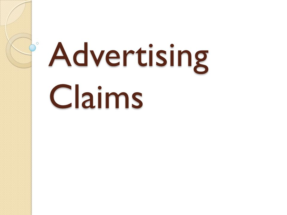 Advertising Claims