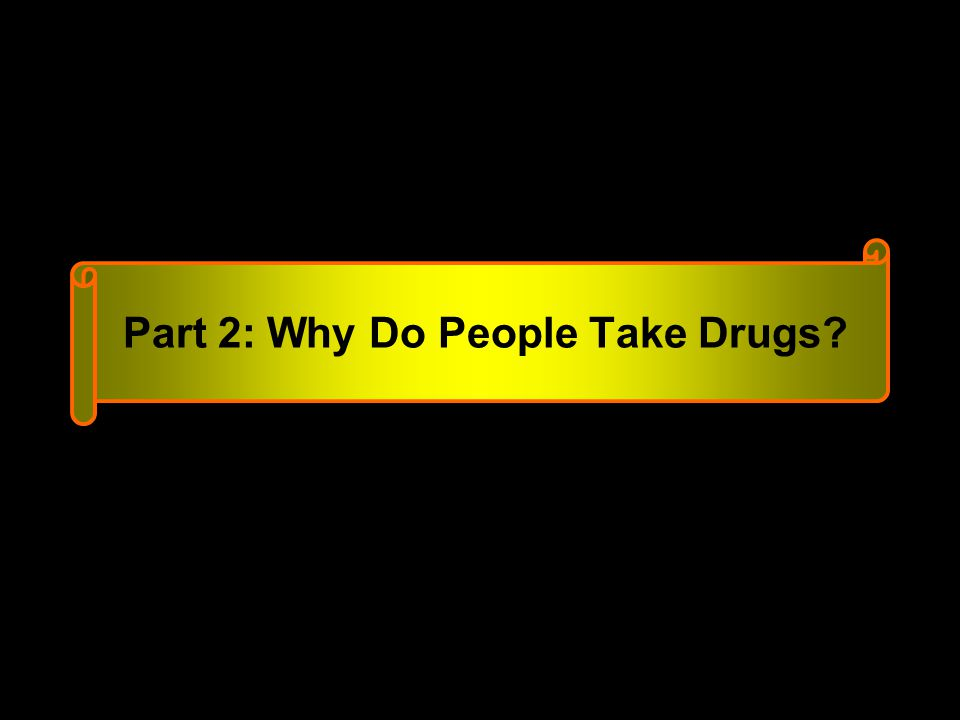 Part 2: Why Do People Take Drugs