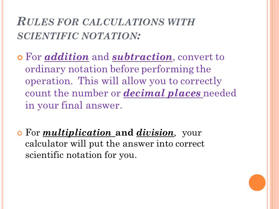 Convert the following numbers to scientific notation.