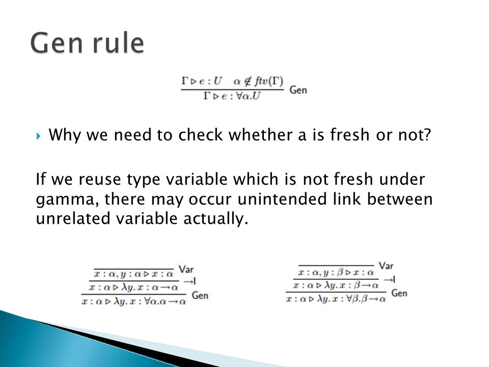  Why we need Spec rule.