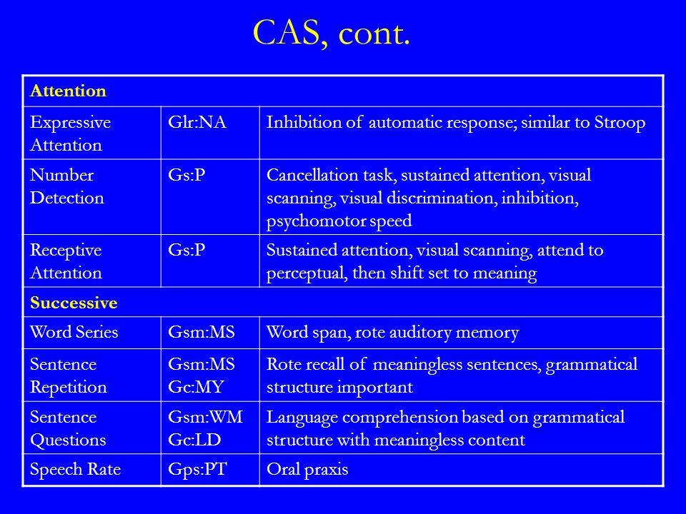 CAS, cont.