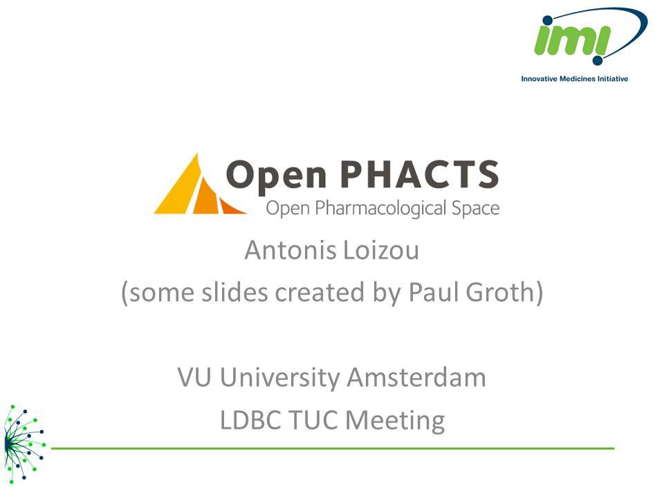 Antonis Loizou (some slides created by Paul Groth) VU University Amsterdam LDBC TUC Meeting