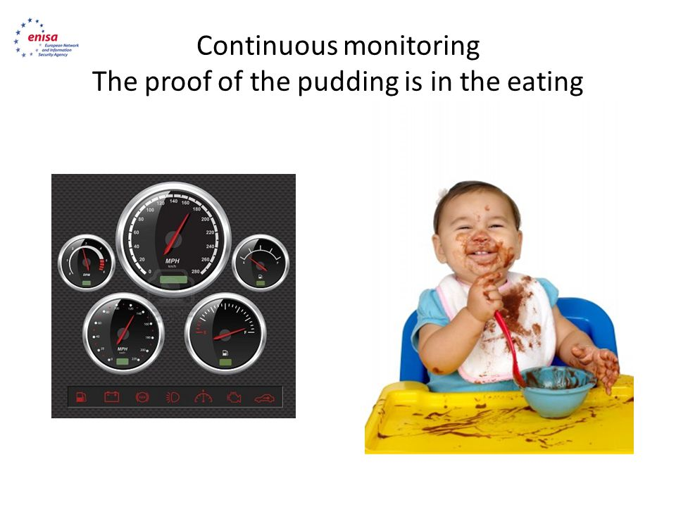 Continuous monitoring The proof of the pudding is in the eating