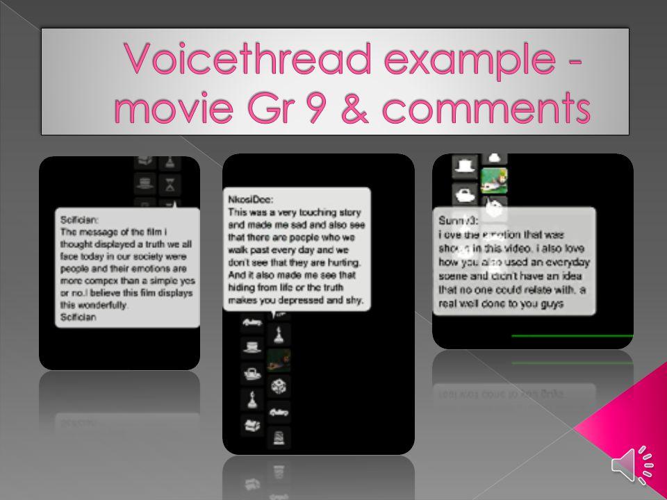  Gen Y teenagers › Web 2.0 tools › Core values on peers  Digital story-telling & EI? › SSEIT › Feedback – questionnaire & Voicethread
