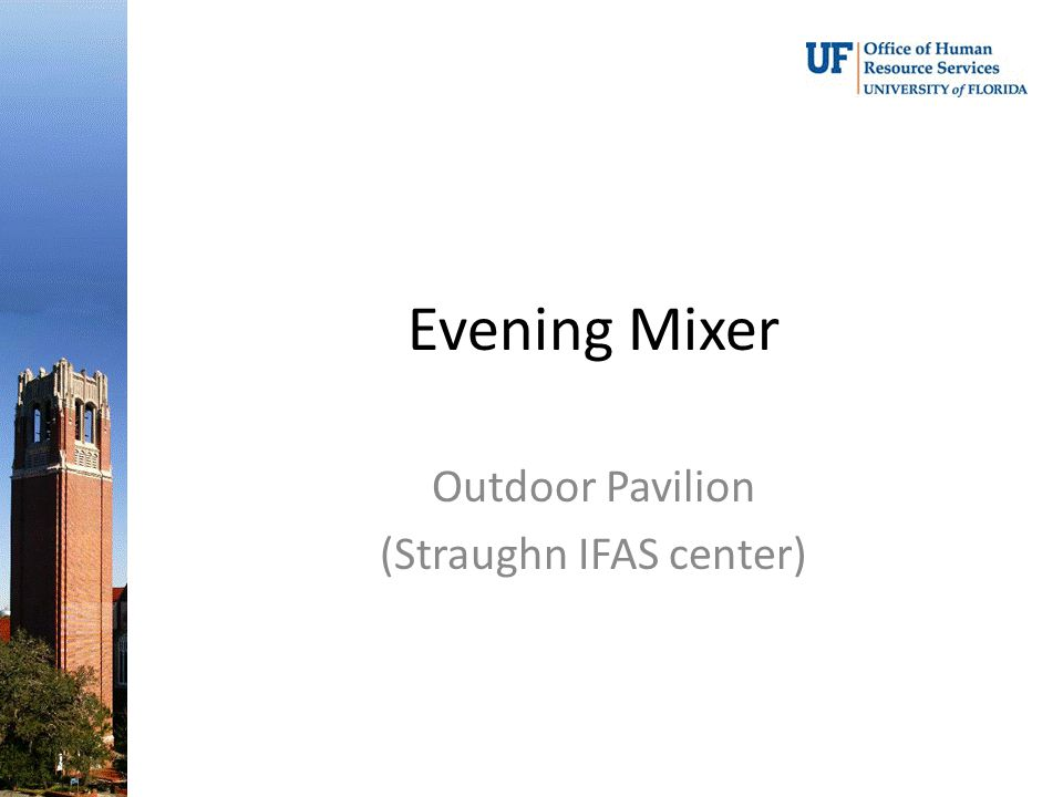 Evening Mixer Outdoor Pavilion (Straughn IFAS center)