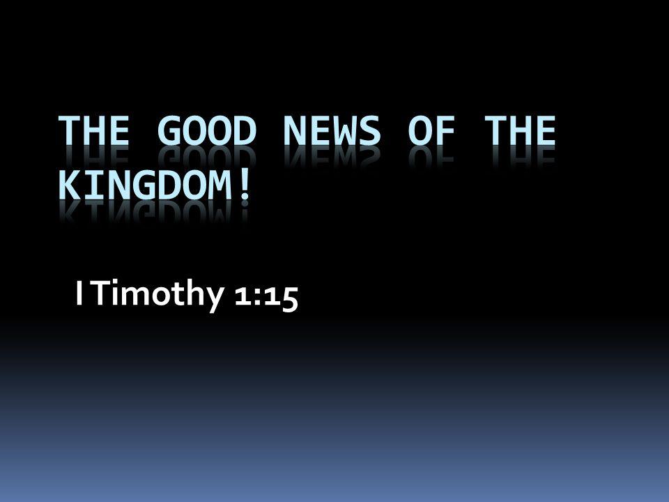 I Timothy 1:15