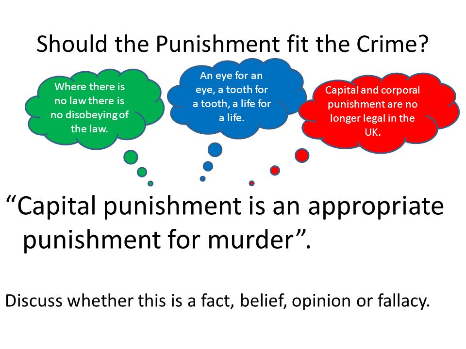 Should the Punishment fit the Crime.