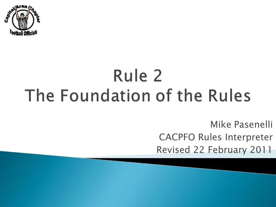  Go over key parts of rule 2 2