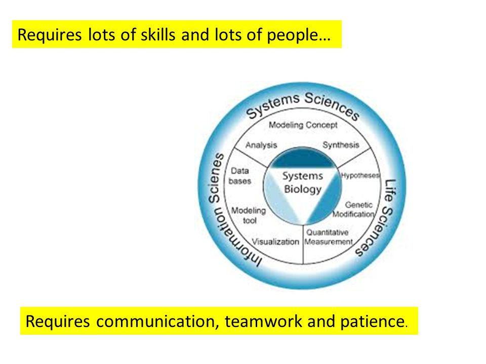 Requires lots of skills and lots of people… Requires communication, teamwork and patience.