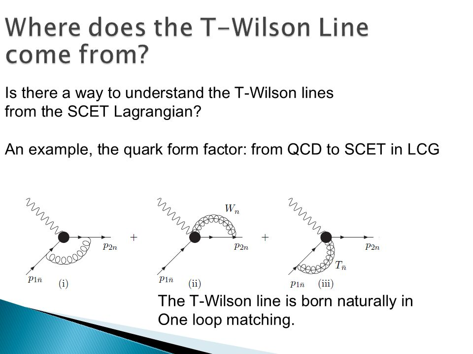 Is there a way to understand the T-Wilson lines from the SCET Lagrangian.