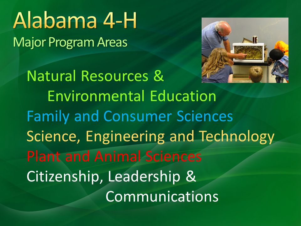 Natural Resources & Environmental Education Family and Consumer Sciences Science, Engineering and Technology Plant and Animal Sciences Citizenship, Le