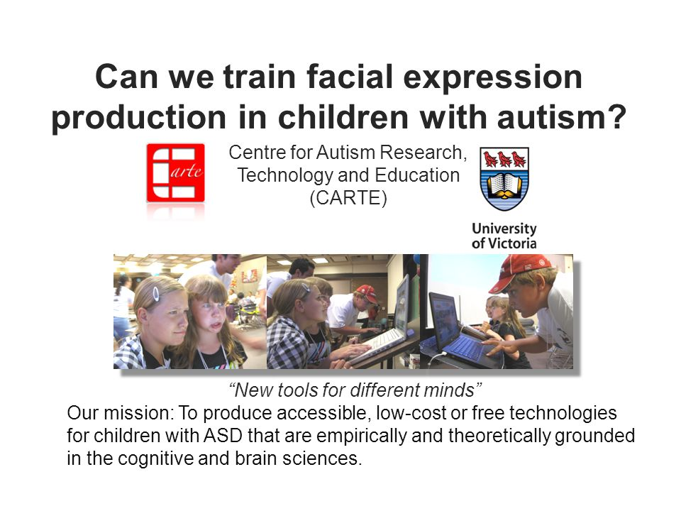 Can we train facial expression production in children with autism.