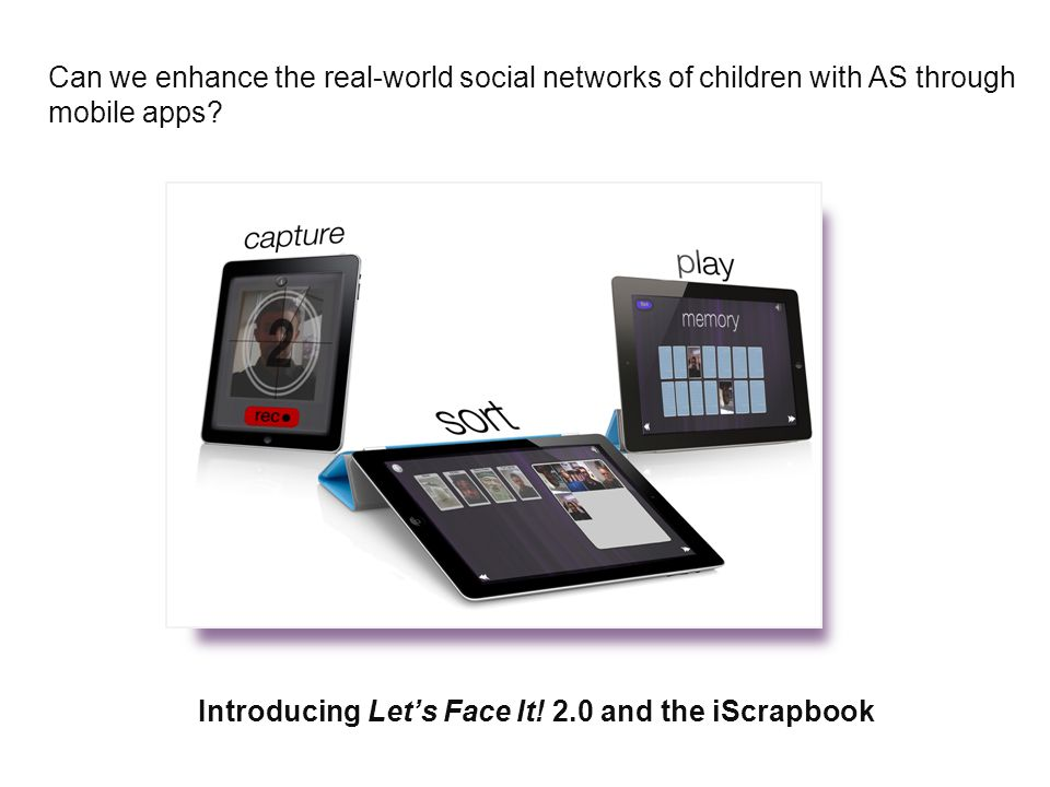 Can we enhance the real-world social networks of children with AS through mobile apps.