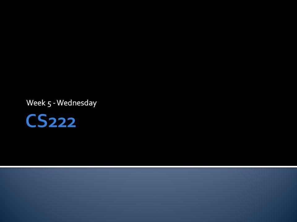 Week 5 - Wednesday