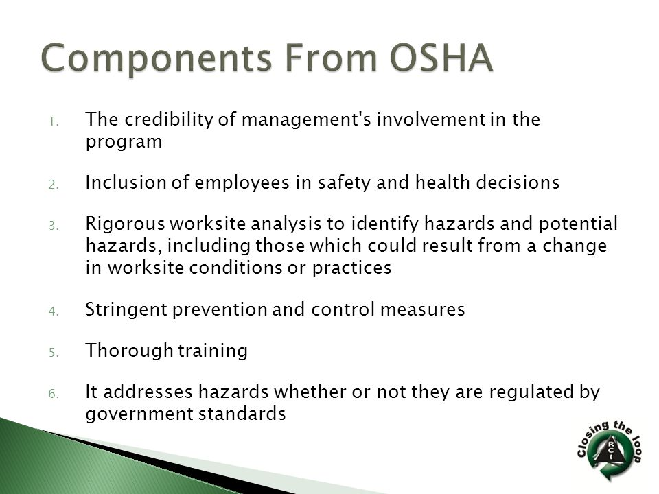  NGFA  OSHA  Insurance Companies  Consultants  State safety organizations  National Safety Council  Other Industries