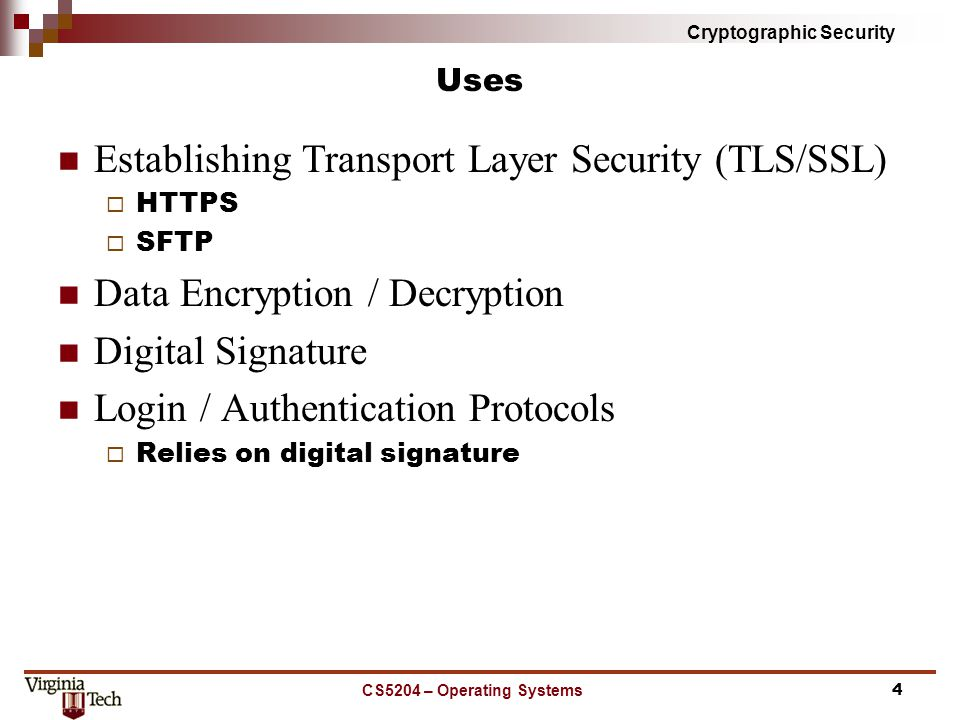 Cryptographic Security Digital Signature Not electronic signature which is typically implemented with a digital representation of a hand signature or acknowledgment gesture.