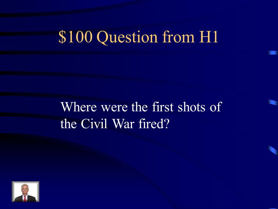 Jeopardy Civil WarReconstruction Jim Crow Westward Movement Industrialization Q $100 Q $200 Q $300 Q $400 Q $500 Q $100 Q $200 Q $300 Q $400 Q $500 Final Jeopardy