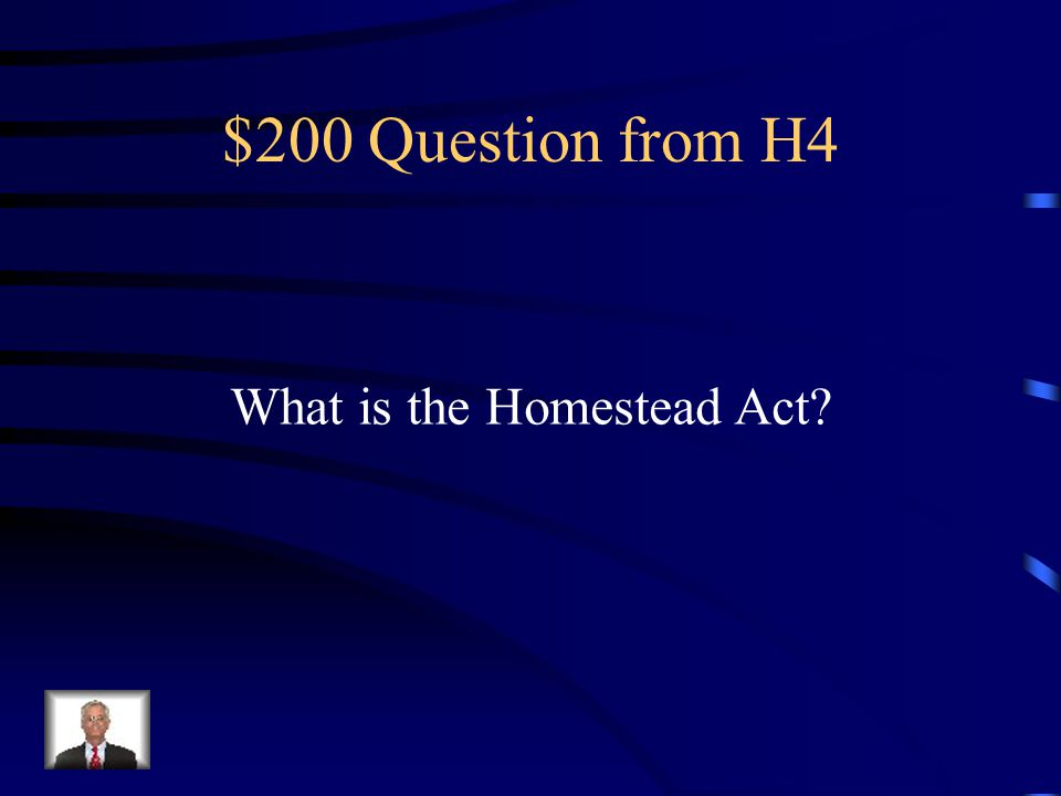 $100 Answer from H4 Railroads, cattle industry, land