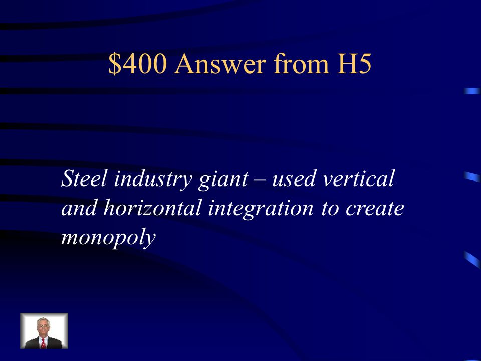 $400 Question from H5 Why was Andrew Carnegie such a successful businessman