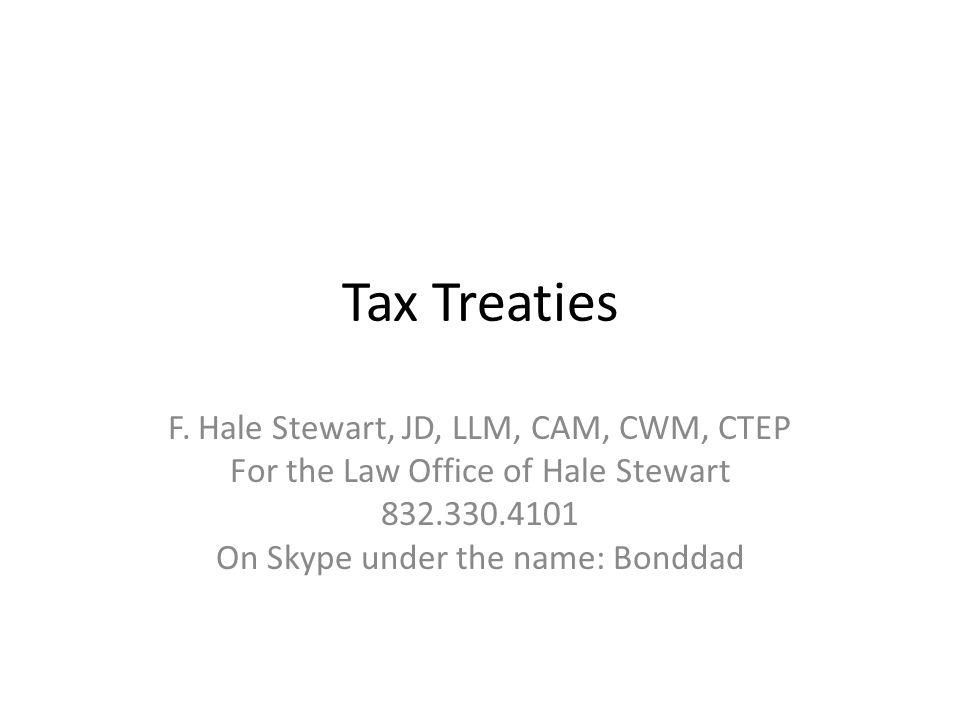 Tax Treaties F.