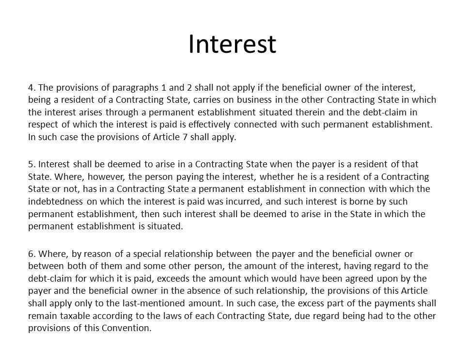 Interest 4.