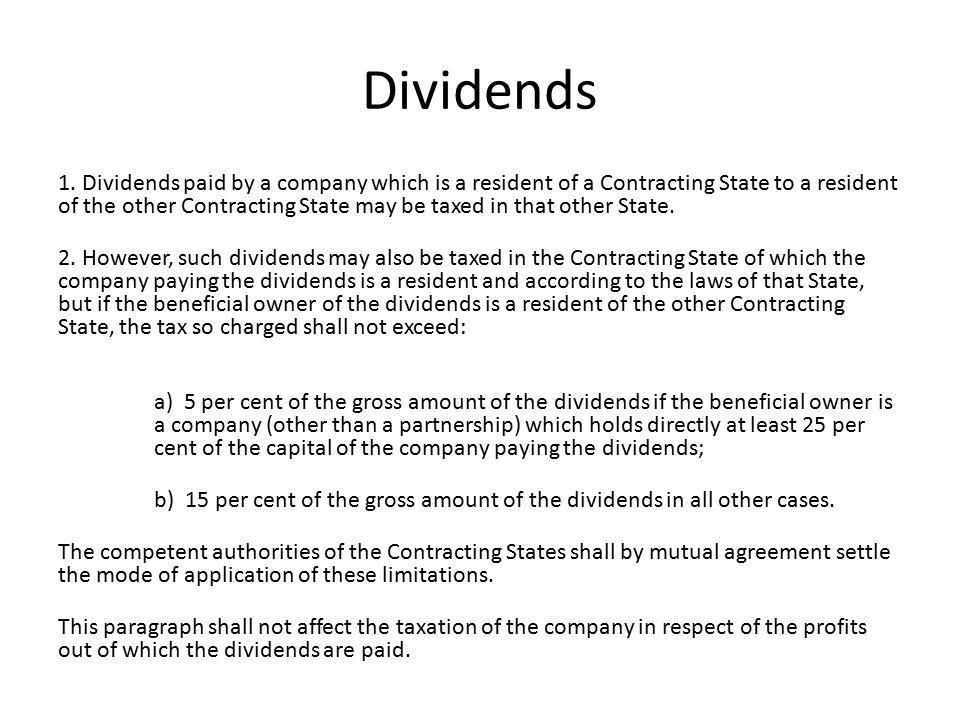 Dividends 1.