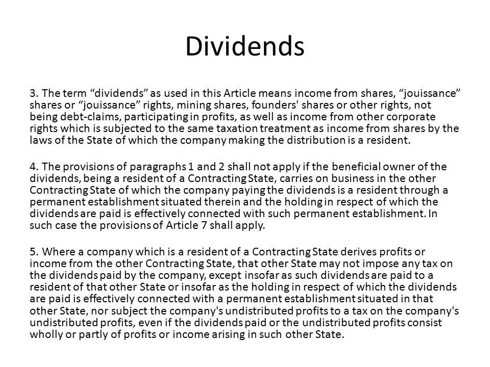 Dividends 3.