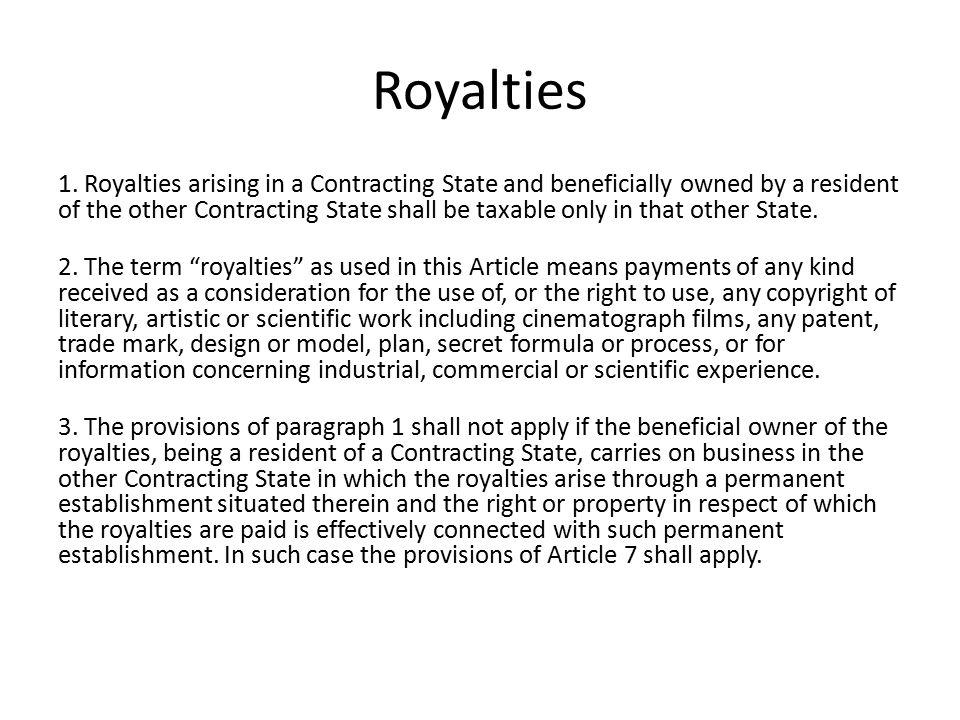 Royalties 1.