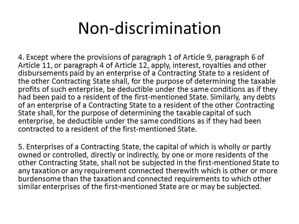 Non-discrimination 4.