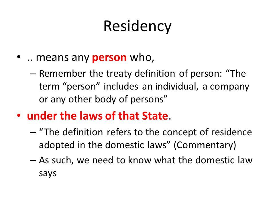 Residency..
