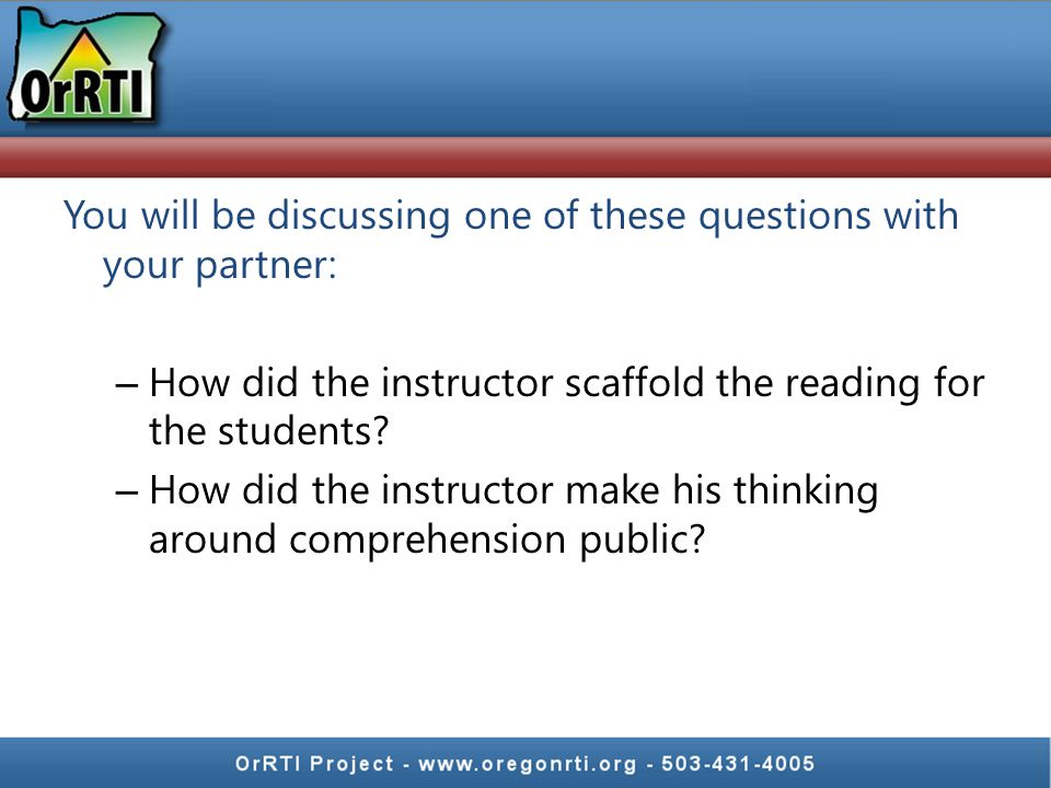 Whole group video Write down effective instructional strategies in whole group – Scaffolding – Think aloud – Graphic organizer 2 nd grade, Rural South