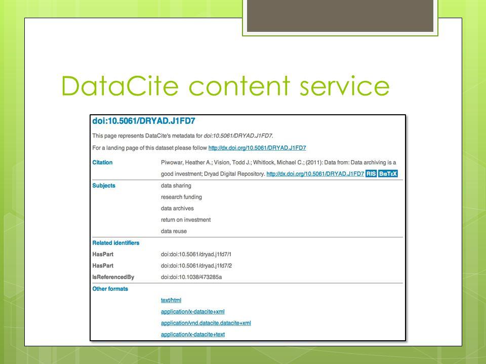 DataCite content service